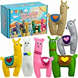 GOGOOX I Love Llamas Sewing Kit - Learn to Sew with The Beginner Sewing Kit for Kids - Fun Llama Craft Project for Beginners - DIY Sewing Starter Kit - Llama Gifts for Children