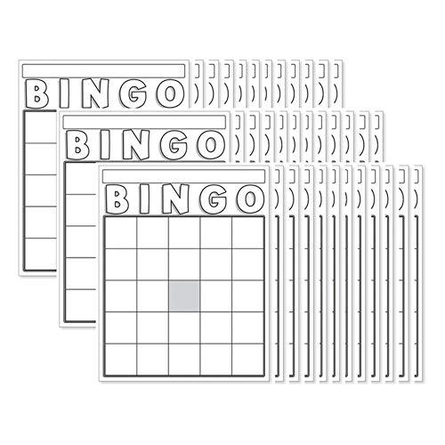Hygloss Blank Bingo Cards, White, 36 Per Pack