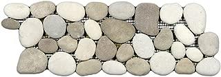 Java Tan and White Pebble Tile Border 1 piece