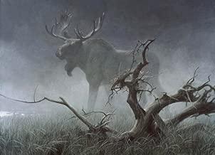 Robert Bateman - Moose in Moonlight