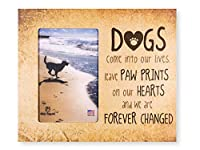 "9.5"" x 8"" Vertical Wooden Dog Cat Pet Picture Frame Holds 6x4 Picture Wall or Tabletop MADE IN THE USA (Paw Prints on Our Hearts) [並行輸入品]"
