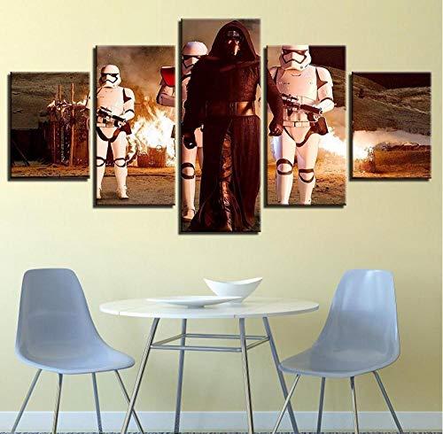 ARXYD 5 opeenvolgende schilderkunst behang hoofddecoratie decoratie muurkunst 5 panelen film karakter cartoon woonkamer canvas Hd-printmodule schilderij fotomateriaal canvas Hd-druk keer 200*100 CM A13.