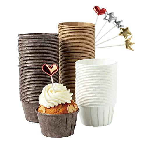 Katbite - Pirottini standard per muffin, cupcake, 150 pezzi, usa e getta, in carta...