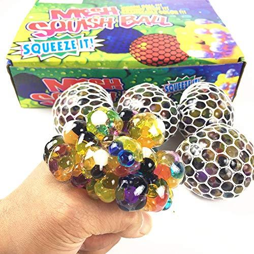KICCOLY Bola Antiestrés , Stress Ball de Diferentes diseño, Pelotas Antiestres, Squishy Ball Alivia estrés para niños y Adultos, fortalece Manos y Dedos. (UVA)