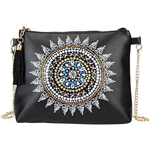 Bolsas de hombro para pintura de diamantes, para bricolaje, con forma especial, de pintura de diamantes, de cuero, bolsa cruzada para maquillaje