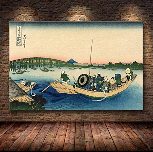 NC170 Kit de Pintura de Diamante Completo 5D Cuadros japoneses Famosos para Adultos o niños Pintura Decoración de Pared para el hogar para Adultos y niños (30 x 40 cm) Sin Marco