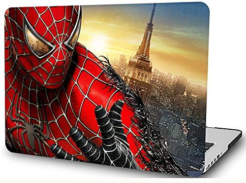"Super Hero Coque en plastique rigide compatible avec MacBook 12"" avec écran Retina (modèle A1534, version 2017 2016 2015) Anime Cartoon Shell YXUAN- Spider Man"