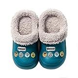 Niños Zuecos Unisex Invierno Pelusa Forro Pantuflas Lindo Cálido Antideslizante Suave Ligeras Niña Zapatos de Jardín Lable Size 160 5/6 UK Child 24/25 EU