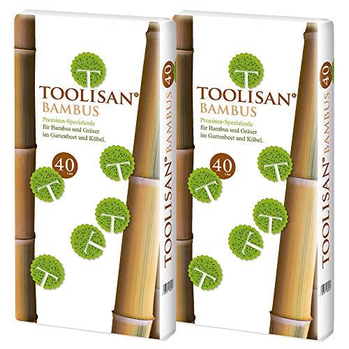(0,46 €/l) Bambuserde & Gräsererde Toolisan 2 Säcke à 40 l