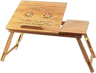 AXIANQIDesk Bambú Cama Plegable Simple Nota Computadora Mesa Radiador Escritorio Práctico (Color : Ordinary, Size : S)