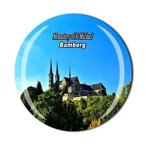 Kloster des St. Michael Bamberg, Deutschland, Kühlschrankmagnet, Souvenir, Geschenk, Dekoration, Magnet-Sticker-Kollektion