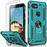 LUMARKE Google Pixel 3a Case with Screen Protector,Pass 16ft. Drop Tested Military Grade Cover with Magnetic Ring Kickstand Car Mount Holder,Protective Phone Case for Google Pixel 3a Teal
