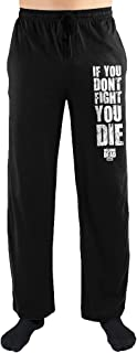 The Walking Dead If You Don't Fight You Die Print Men's Loungewear Pajama Lounge Pants