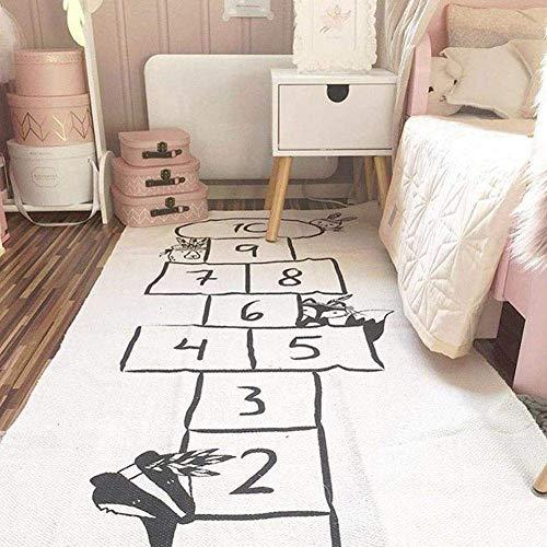 Spielteppich Straße,Spielteppich Kinderteppich Spielzeug Teppich Matte Kinderzimmer Babyteppich Mit Hüpfspiel Teppich Für Jungen Mädchen Kinder Baby - 170x72cm
