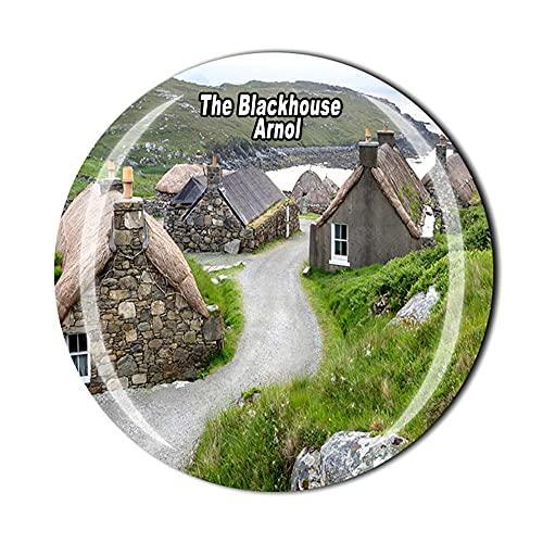 The Blackhouse Arnol Scotland UK - Imán para refrigerador, regalo de recuerdo de viaje con cristal 3D para decoración del hogar y la cocina