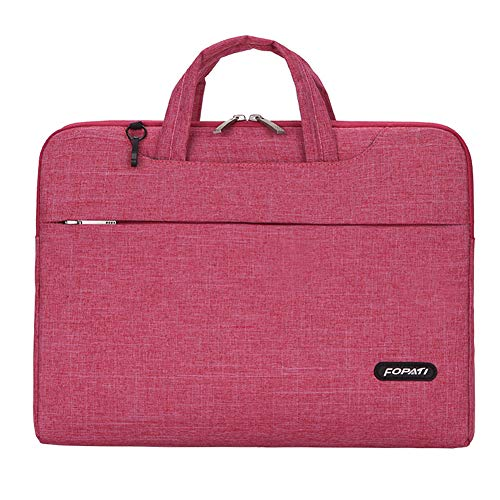 Laptop Case Cunliwaa Laptop Sleeve Case 13.3 14 15.6 Inch Notebook Computer Bag with Handle Protective Carrying (15.6 inch, Red)