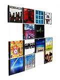 CD-Wall CD-Regal/Farbige Design CD-Wand/CD Wanddisplay/CD Wandregal/CD Wandhalter/CD Halter Square 4x4 Farbe: signalweiß für 16CDs zur sichtbaren Präsentation Ihrer Lieblings Cover an der Wand