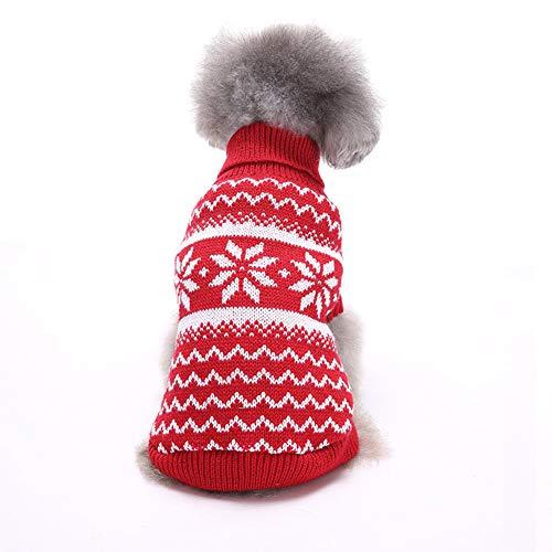 Chiatai Jersey de cuello alto para perro de Navidad, ropa de invierno...