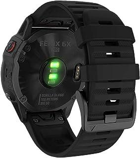 YOOSIDE QuickFit Watch Band for Garmin Fenix 6X Pro/Sapphire,26mm Soft Non-allergenic Silicone Sport Waterproof Wristband ...