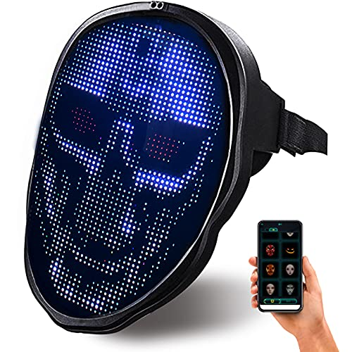 PULOUX Tiktok Explosive Led Face Changing Mask Creative Fashion Halloween Essential Gift Adult