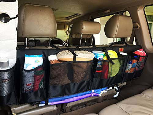 SUVs Rear Trunk Organizer with Umbrella Holder Hanging, X...