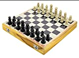 Marble Stone Chess 10'x10' Inches Set Game Board Soapstone Chess Pieces Hand Carved Storage Inside Board Vintage Unique Best for Christmas Gifting