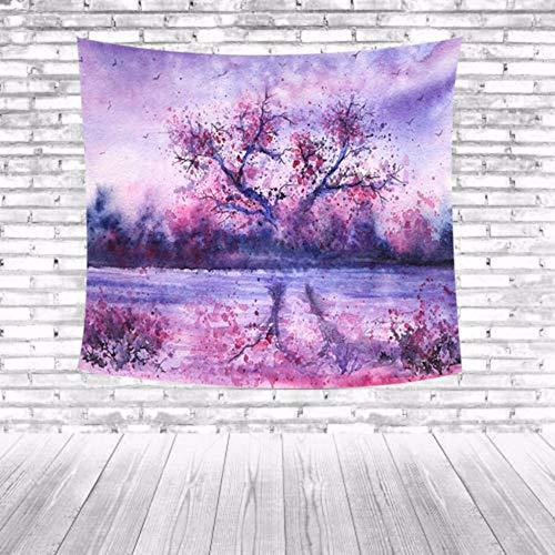 Djkaa Boerenhuis huis dorm decoratie landschap bos decoratieve strand hanger wandbehang plafond handdoek schilderachtig tapijt bedrukken wandtapijt 230 x 150 cm.