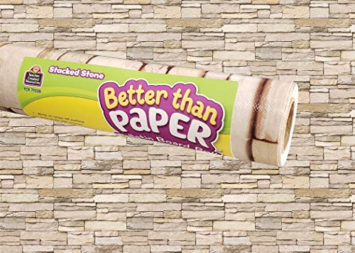 Teacher Created Resources Stacked Stone Better Than Paper Bulletin Board Roll (TCR77038)