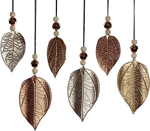 khevga Blatt-Anhänger Deko Fensterdekoration Blätter Silber Gold Rose