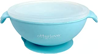 Otterlove Baby Feeding Bowl with Silicone Lid and Suction Base | 100% Platinum Pure Silicone with NO FIllers | BPA Free | Fits Most Highchair Trays | Stay Put Baby Bowl for Babies & Toddlers
