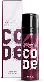 Wild Stone Code Iridium No Gas Body Spray for Men, Long Lasting Masculine Fragrance for Office Wear -120 ml