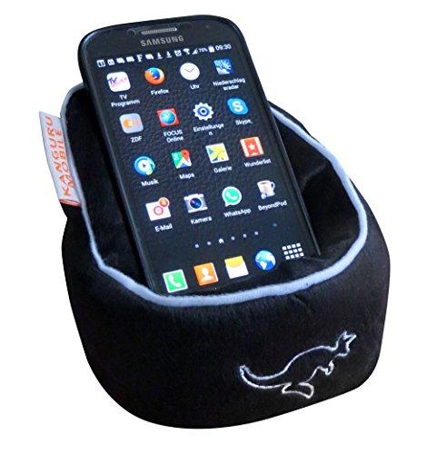Kanguru mobile Sitzsack für Smartphone, eBook Reader oder Tablet (Schwarz)