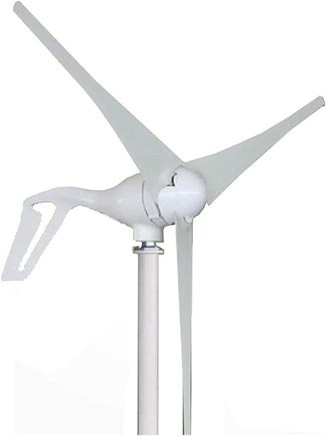 LXLH Aerogeneradores, Dyna-Living Aerogenerador 300W / 400W / 500W / 600W / 700W / 800W DC 12V / 24V Negocios 3 aspas con Controlador para Casas Marinas RV Energía Industrial, 800w