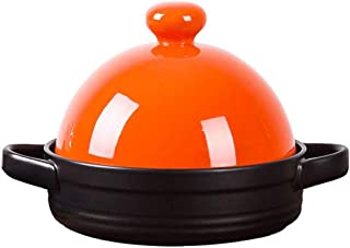 XIAO WEI Casserole cookware Classic Enamelled cast Round Covered Casserole Household Non-Stick pan High Temperature Resist...