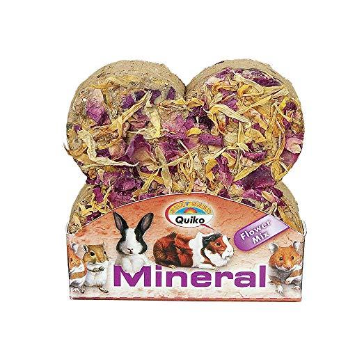 Quiko Kleintier-Mineralstein Flower Mix 90g (12 Stück)