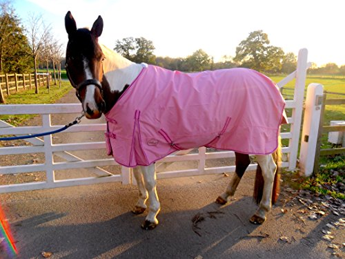 Cwell Equine - Alfombra para Lluvia (100% Impermeable, Transpirable, 600 Denier,...