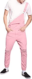 UFACE Dungarees Loose Fit - Dark Blue Cheap Men's Denim Bib Trousers - Multicolour - Medium