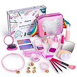 Anpro 23 Stück Prinzessin Makeup Spielzeug Kit Rollenspiel, Schminkset Spielzeug für Kinder...