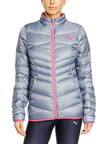 PUMA Damen Jacke ACTIVE 600 PackLITE Jacket W, Black-heather chambray, L, 838672 38