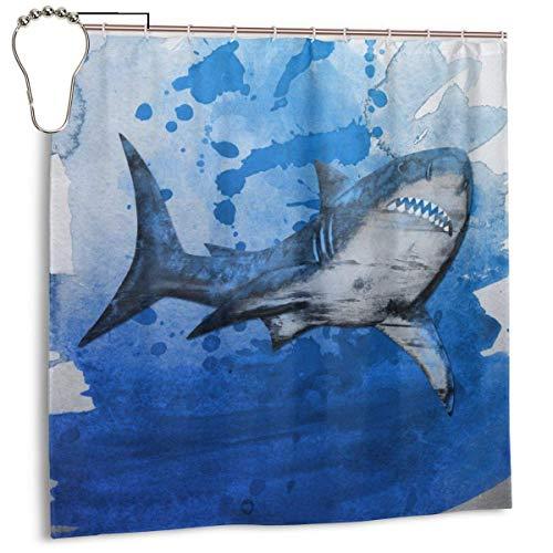 lanjiangbaih Kunst hungrige haie zähne duschvorhang Set mit 7 to12 Haken 3D Druck Bad Vorhang 72 'x 72'