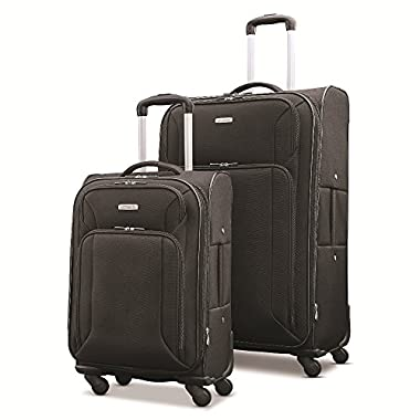 Samsonite Victory 2 Piece Nested Softside Set (21 /29 ), Black, Only at Amazon