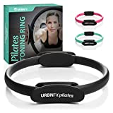 URBNFit Pilates Ring Fitness Circle - Weight Loss Body Toning Magic Circle and Resistance Exercise Fitness Ring Free Workout Guide Included