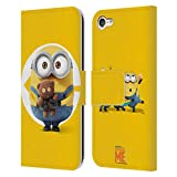 Head Case Designs Officially Licensed Despicable Me Bob Minions Leather Book Wallet Case Cover Compatible with Apple Touch 6th Gen/Touch 7th Gen