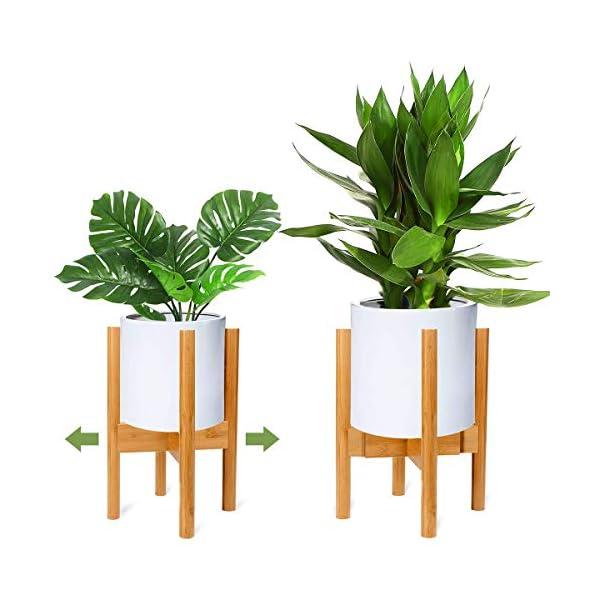 RIOGOO Soporte para plantas, soporte de plantas expandible retro Soporte para exhibición de macetas para flores Estante…