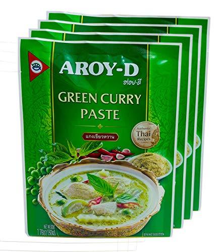 Aroy-D Pasta de Curry Verde 4x50g