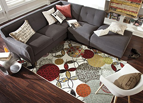 Mohawk Home Strata Give And Take Kaleidoscope Abstract Medallion Printed Area Rug, 5'x8', Multicolor