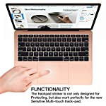Palm Rest Cover Skin and Trackpad Protector Compatible with 2019 2018 MacBook Air 13-Inch Model A1932 with Touch Id… 10 Specially Design For 2016 2017 2018 2019 Released MacBook Pro 15 with touch bar model A1707 A1990 Prevent your new MacBook to avoid scratches by watch, buckles, jewelry and other metal objects Airflow Design, easy to uase with no bubble, renew the worn-out palm rest, It's a great way to update your worn-out palm rest with a different fresh new look