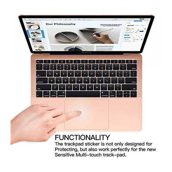 Palm Rest Cover Skin and Trackpad Protector Compatible with 2019 2018 MacBook Air 13-Inch Model A1932 with Touch Id… 3 Specially Design For 2016 2017 2018 2019 Released MacBook Pro 15 with touch bar model A1707 A1990 Prevent your new MacBook to avoid scratches by watch, buckles, jewelry and other metal objects Airflow Design, easy to uase with no bubble, renew the worn-out palm rest, It's a great way to update your worn-out palm rest with a different fresh new look