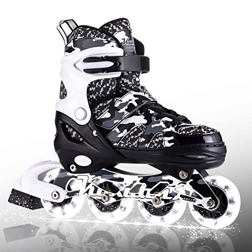 Kuxuan Adjustable Inline Skates for Kids and Youth...