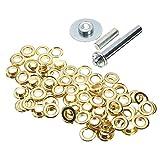 Nuevo 100piezas de latón con revestimiento de lona hebilla Quick Snap Fastener botones tornillos kits
